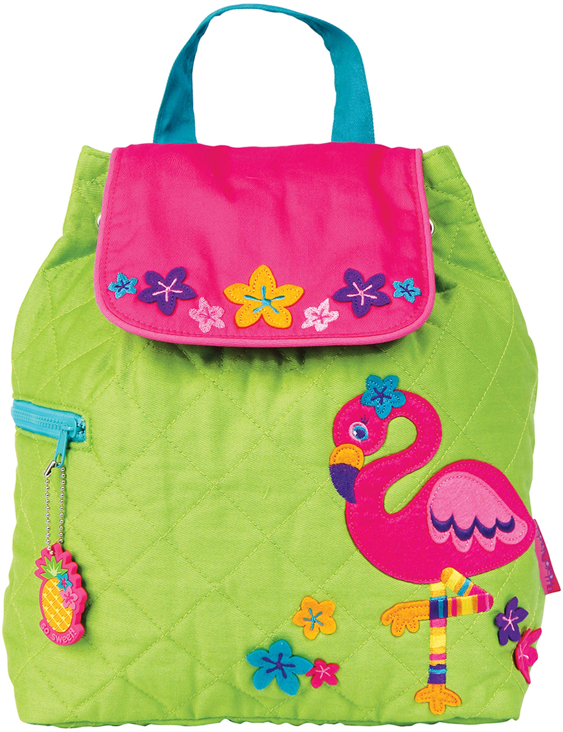Stephen Joseph Quilted Backpack, Flamingo,One Size