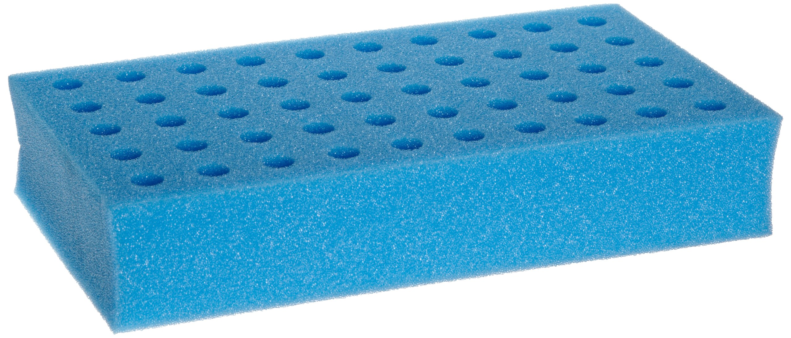 Talboys 945072 Foam Test Tube Rack for 12mm Tube, 50 Tube Capacity, Blue