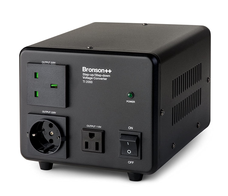 Bronson+ TI 200-110 Volt Transformer Toroidal Core USA Converter 200 Watt Step Up//Down Bronson 110V 200W