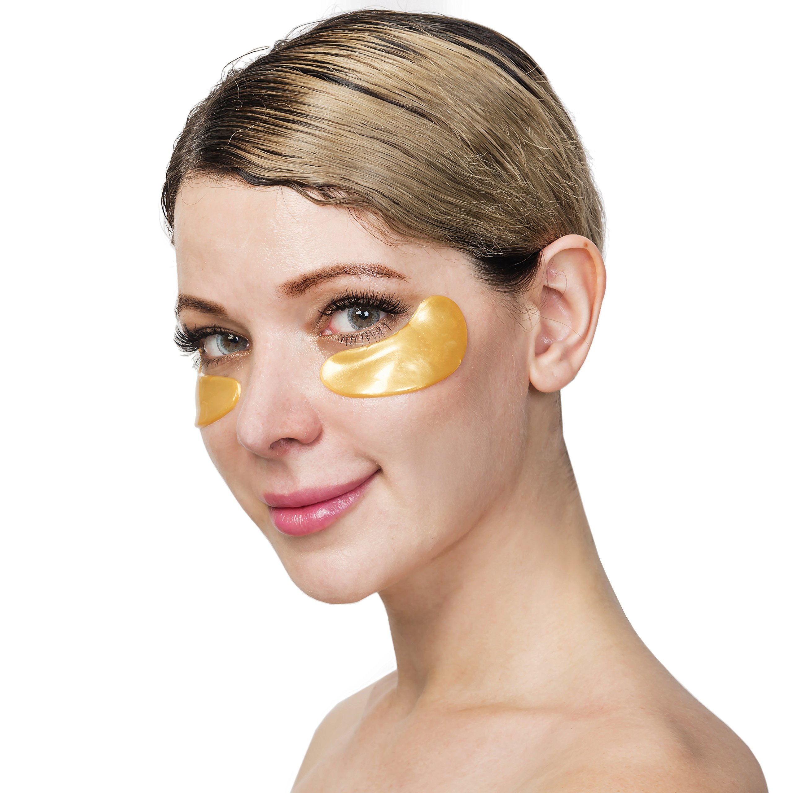 Under Eye Bags Treatment - Gel For Puffiness, Wrinkles, Dark Circles, Crows Feet, Puffy Eyes -24k Gold Luxury - The Best Natural Collagen Mask - Women And Men Masks - Anti Aging Moisturizer Pads by Thomas Estelle (Image #9)