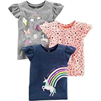 Simple Joys by Carter's 3-Pack Short-Sleeve Graphic Tees Niñas