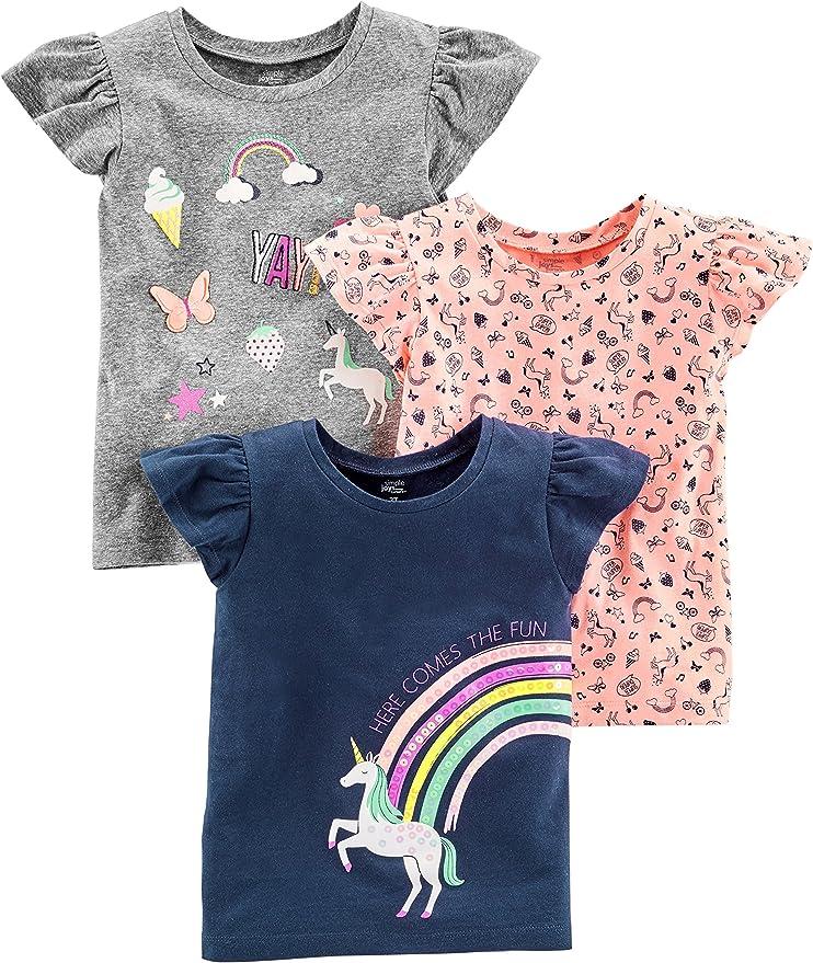 18 Months Requin//Rayures Infant Toddler-Tank-Top-and-Cami-Shirts Simple Joys by Carters Lot de 3 d/ébardeurs