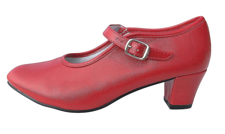 Size 38 La Senorita Spanish Flamenco Shoes Red UK 4