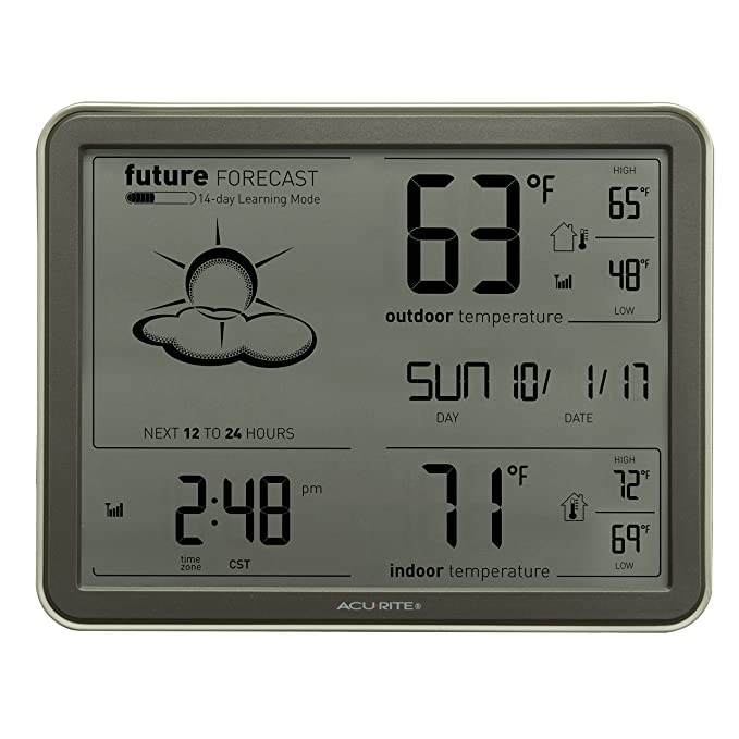 Amazon.com  AcuRite 75077A3M Wireless Weather Station with Large Display 1243a5173f1dd