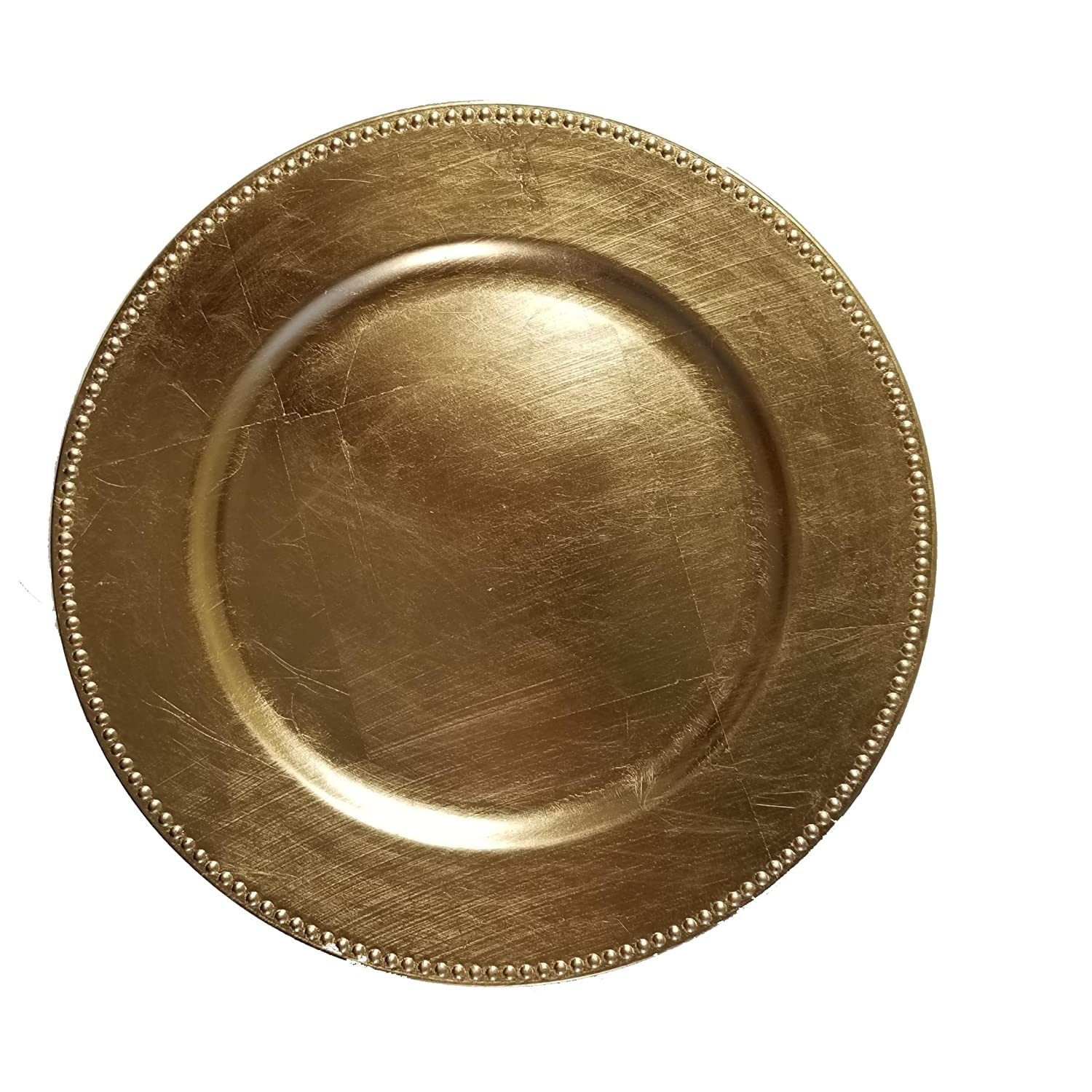 The Urban Port Set of 4 Gold Charger Plate C216-123027-4