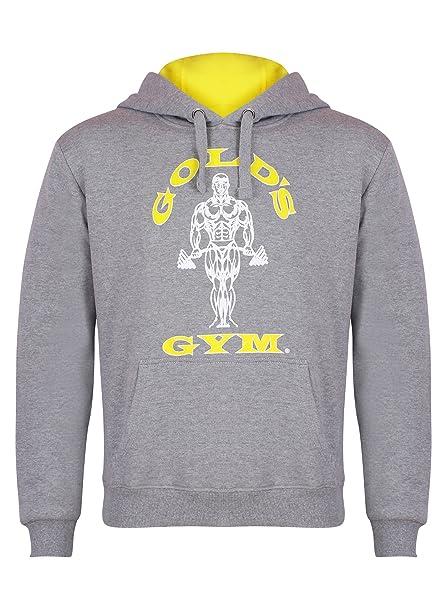 Gameworld Muscle Joe – Sudadera con Capucha y Cremallera para Hombre, Sudadera, Color Grey