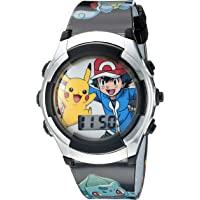 Pokemon Pokemon Kids' ACCUTIME WATCH CORP., POKEMON WATCHES, POK3018 Digital Display Quartz Black Watch