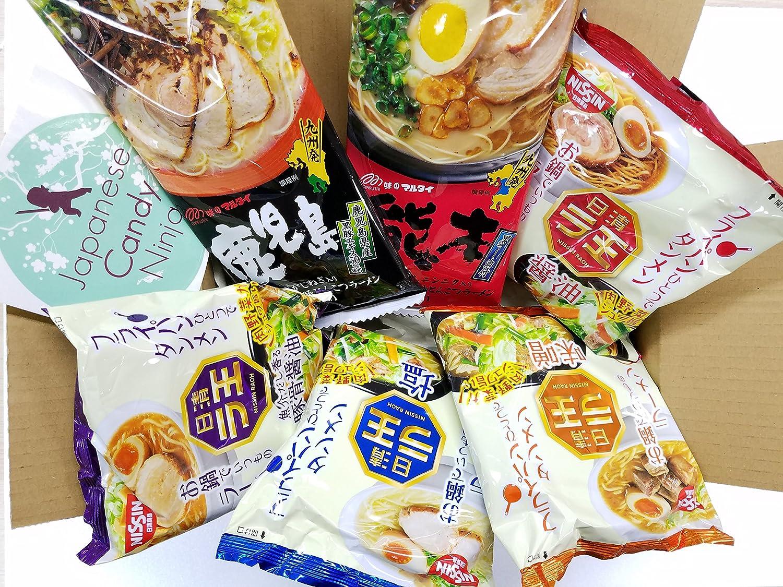 Amazon.com : Japanese Instant Noodles RAMEN BOX 6taste set ...