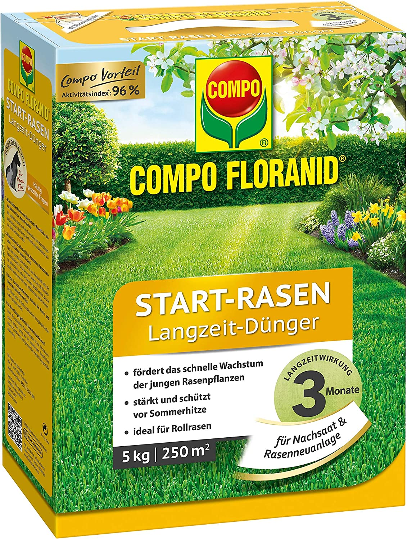 Compo floranid Start de césped largo tiempo de Abono 5 kg óptima ...