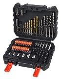 Black+Decker A7188 - Pack de 50 piezas para atornillar y taladrar, color negro y naranja