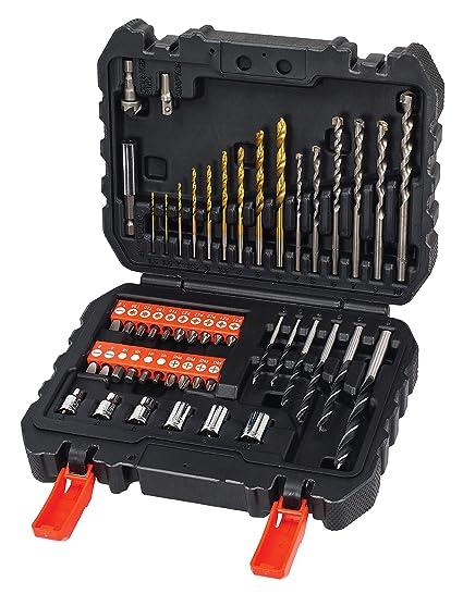 A7188-XJ Set per Forare ed Avvitare con Batteria 50 Pezzi BLACK+DECKER BL188K-QW Trapano Avvitatore a Percussione Brushless
