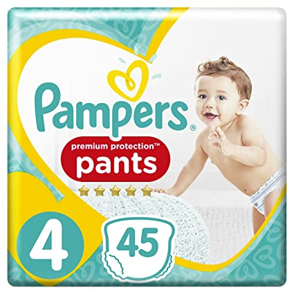 PAMPERS Premium Protection Pants tamaño 4 para 9-15 kg, 45 Pañales, 2