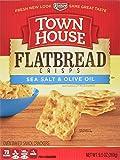 Town House Flatbread Crisps Crackers, Sea Salt and Olive Oil, 9.5 Ounce