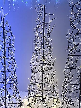 Amazon.de: 6-FT Spirale Weihnachtsbaum mit 432 Warm weiße LED Lichter