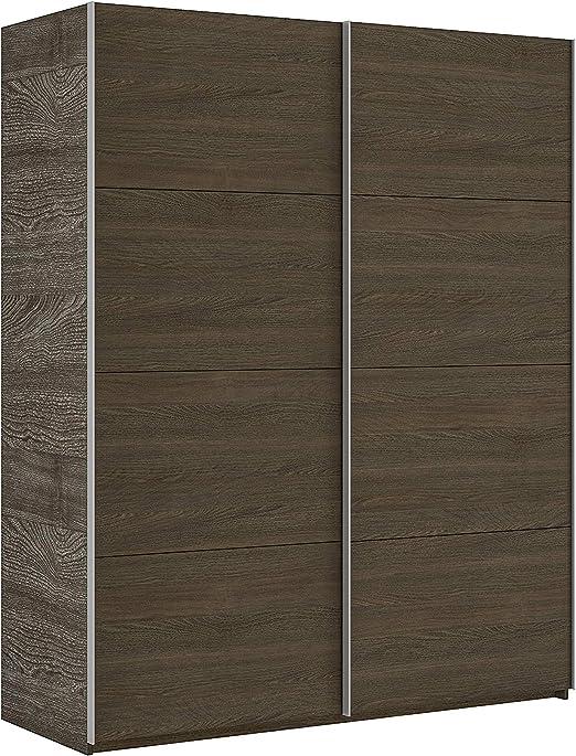 Esidra - Armario ropero Moderno, 2 Puertas correderas, Madera Tipo wengué - 200 x 150 x 63, único: Amazon.es: Juguetes y juegos