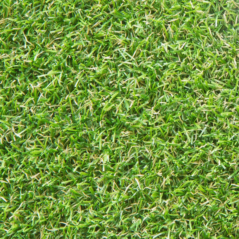 Gr/ö/ße: 400x250 cm Terrasse Gr/ün wasserdurchl/ässig UV-Garantie f/ür Balkon Steffensmeier Kunstrasen Rasenteppich Glasgow Meterware Garten
