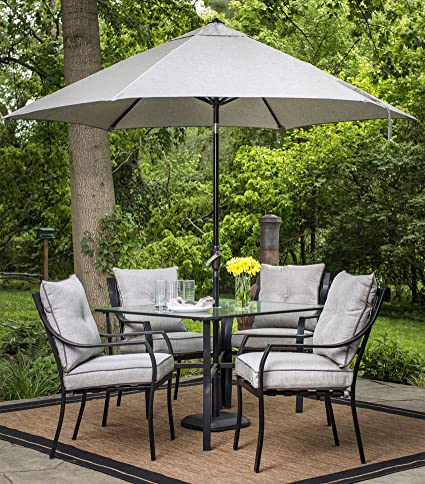 amazon com hanover umbrella for the lavallete outdoor dining set