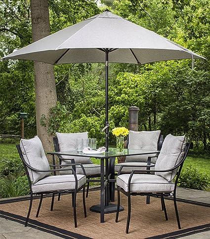 amazon com hanover lavalletteumb table umbrella for the lavallette rh amazon com patio furniture with umbrella on sale patio furniture with umbrella table