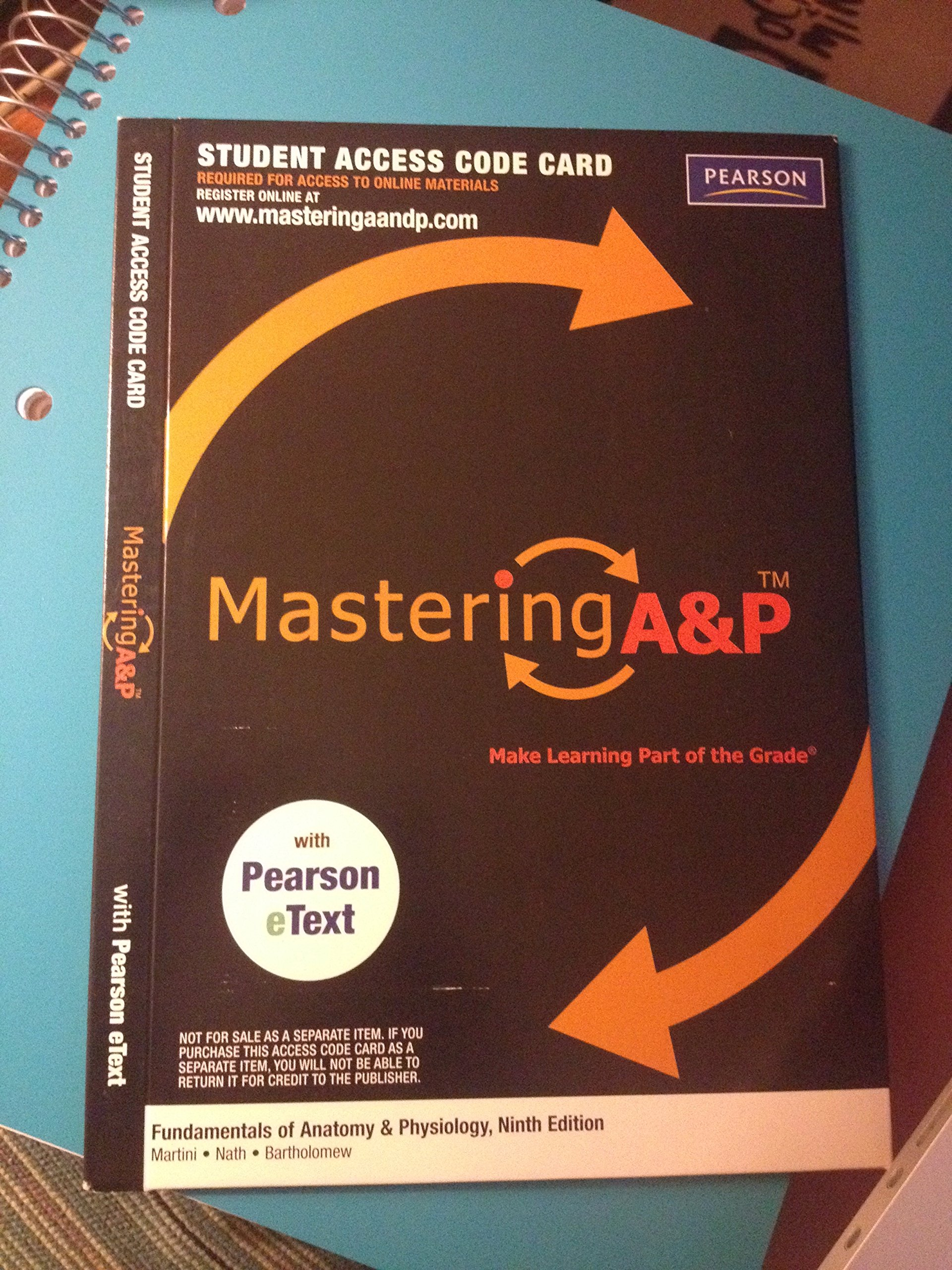 MasteringA&P with Pearson eText Student Access Code Card for Use ...