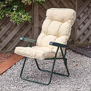 Replacement Garden Recliner Luxury Cushion - Ares Cream