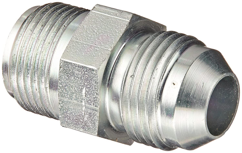 Flare-Twin Fitting 3//4 Inverted Flare Male x 1//2 JIC Male Adapter JIC Eaton Weatherhead C5880X8 Carbon Steel SAE 37 Degree