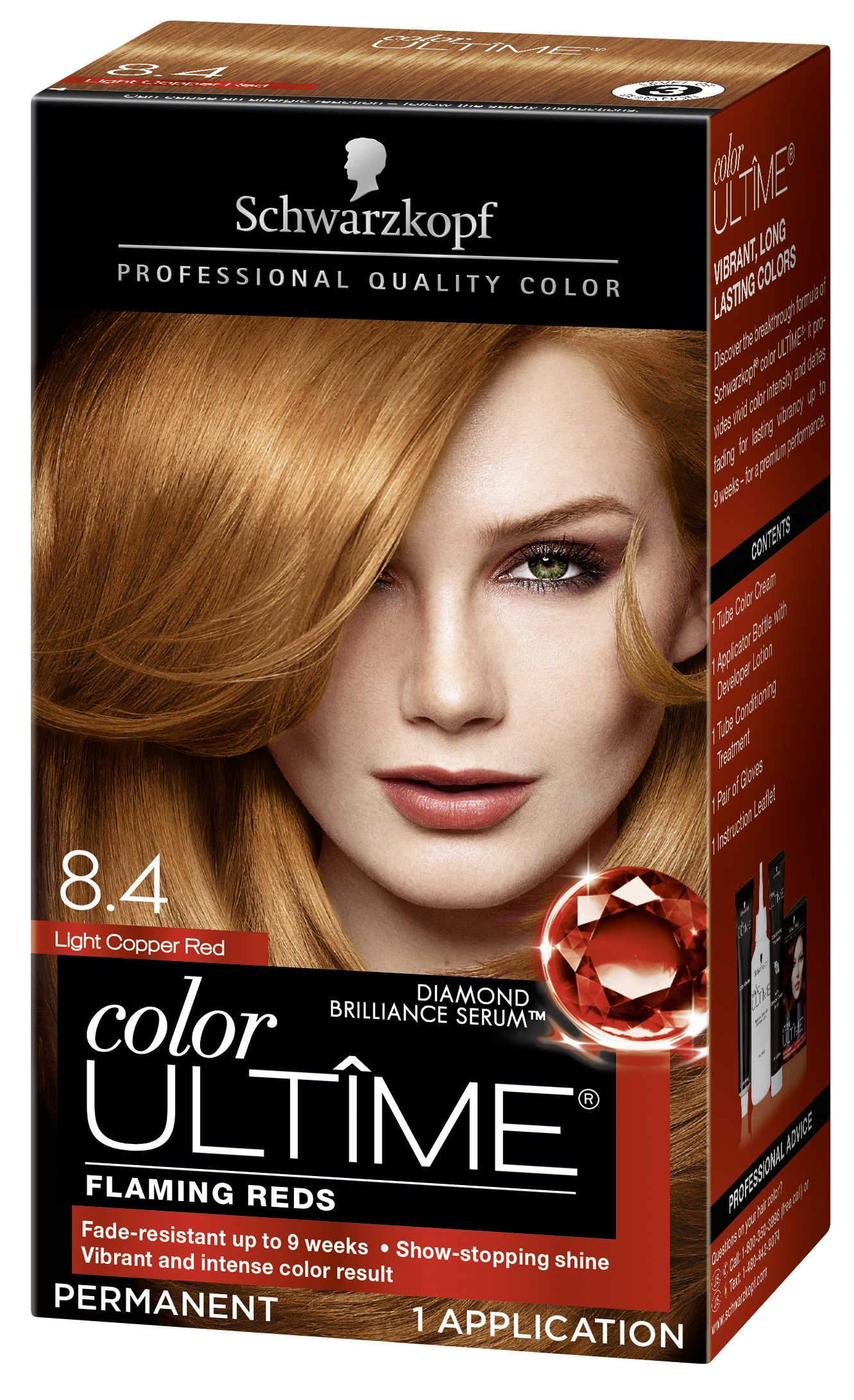 Amazon Schwarzkopf Ultime Hair Color Cream Light Copper Red