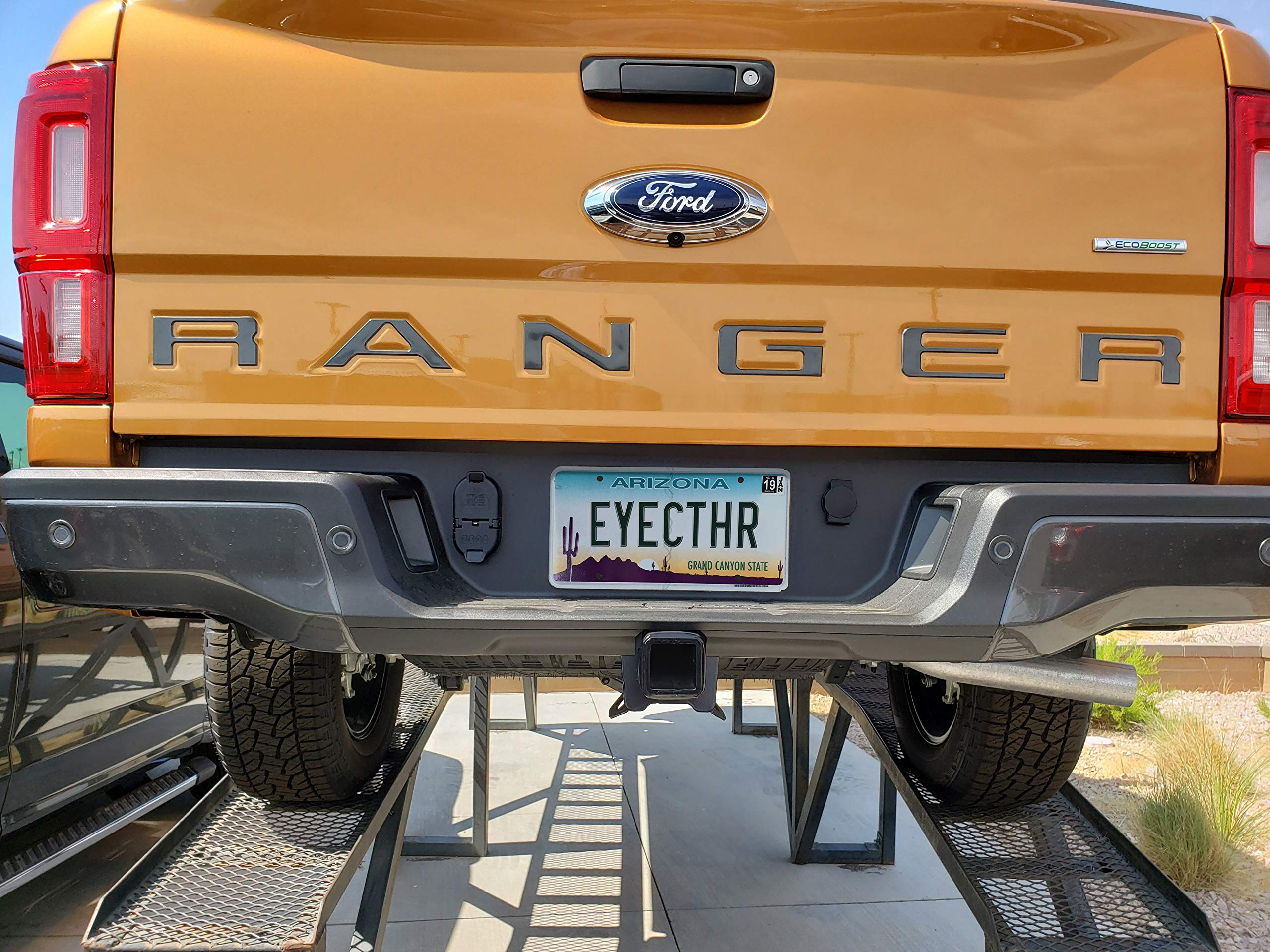 EyeCatcher Tailgate Insert Letters fits 2019-2020 Ford Ranger Red