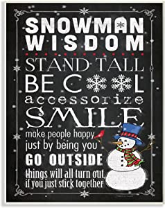 Stupell Industries Snowman Wisdom Typography Wall Plaque, 10 x 15, Multi-Color