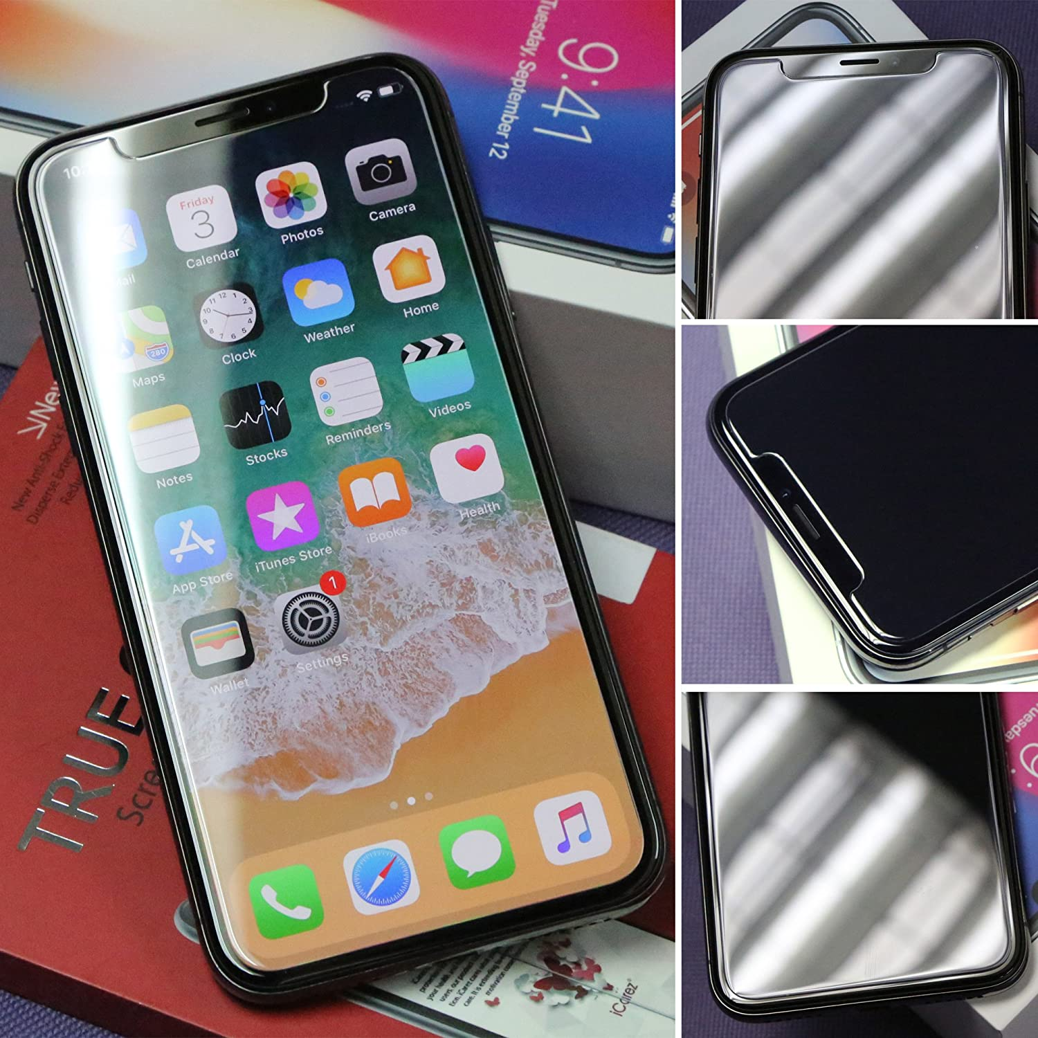 Screen Protector for 2019 iPhone 11 6.1-Inch Case Friendly Easy Apply Tempered Glass + Tray Installation iCarez 3-Pack 0.33MM 9H 2.5D Clear