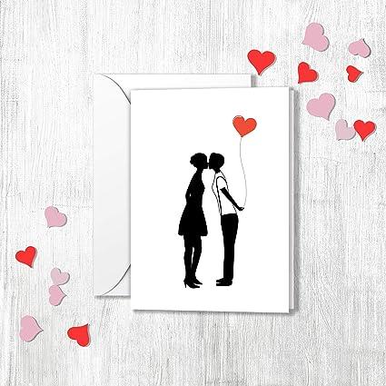 Lesbian silueta de globo de corazón - Lesbianas tarjeta de ...