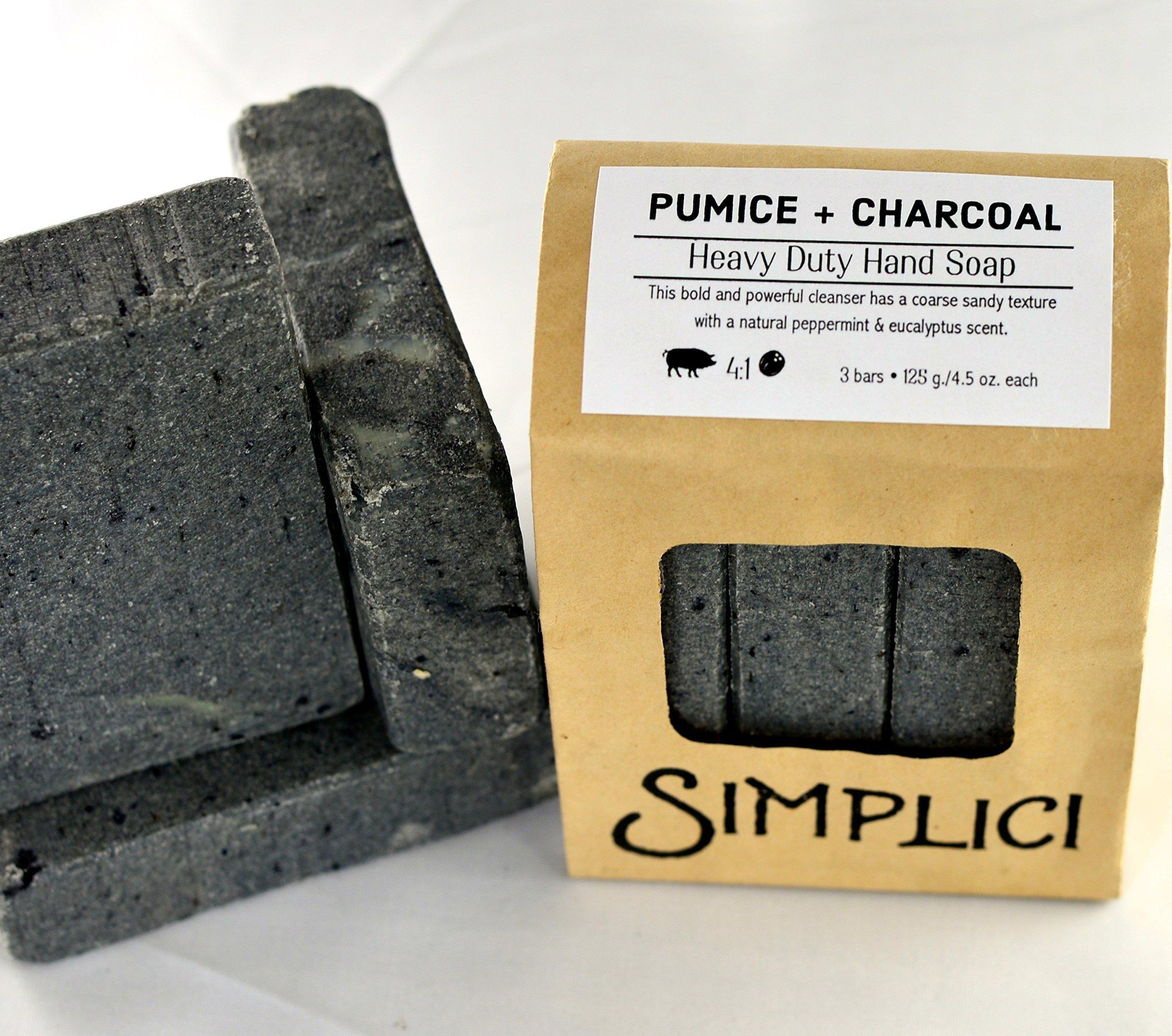 SIMPLICI Pumice + Charcoal + Shea Butter, Heavy Duty Hand Soap