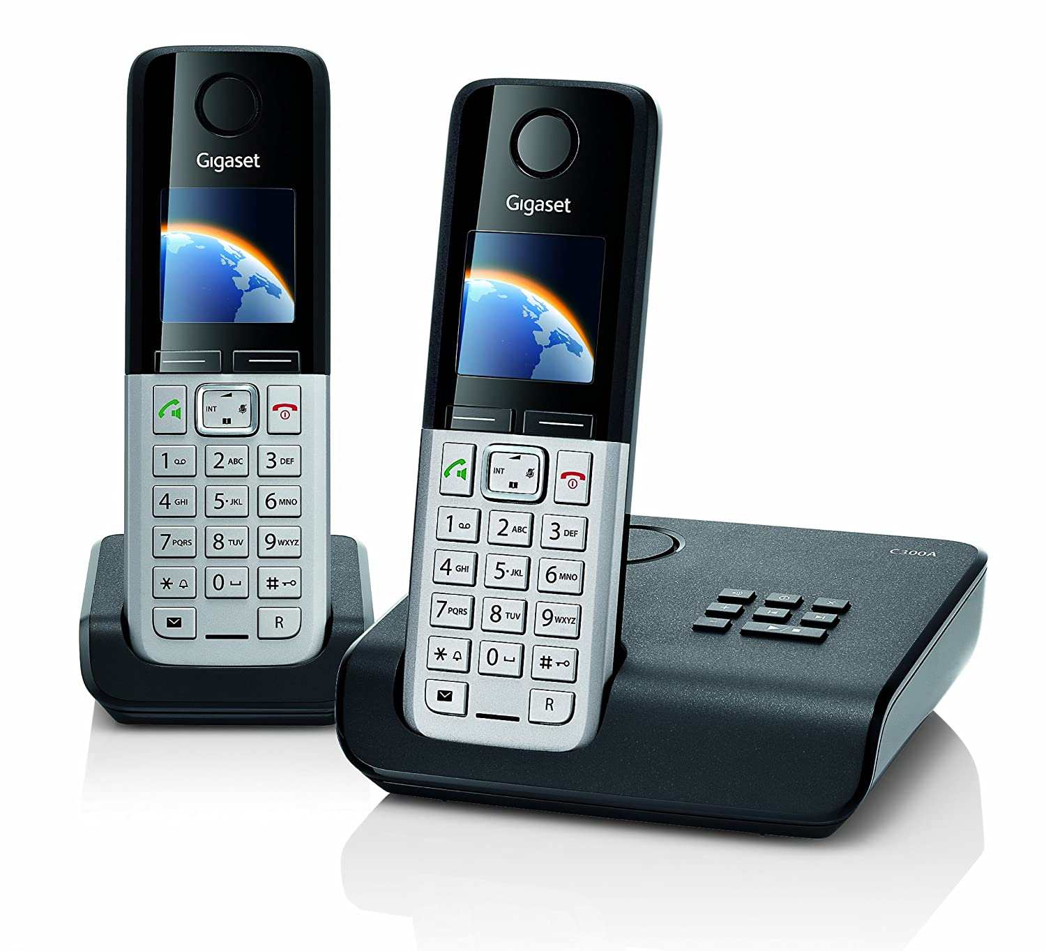 Gigaset C300A Twin DECT Cordless Phone Set with Answer: Amazon.co.uk:  Electronics