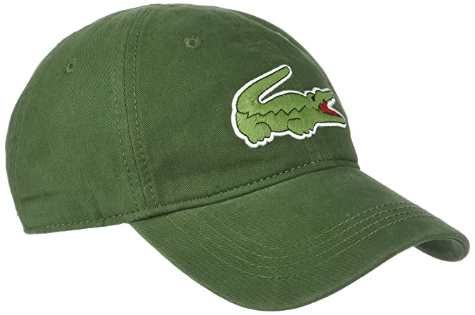 0e203cd3708 Lacoste Men s RK8217 Fashion Baseball Cap - Green - One Size