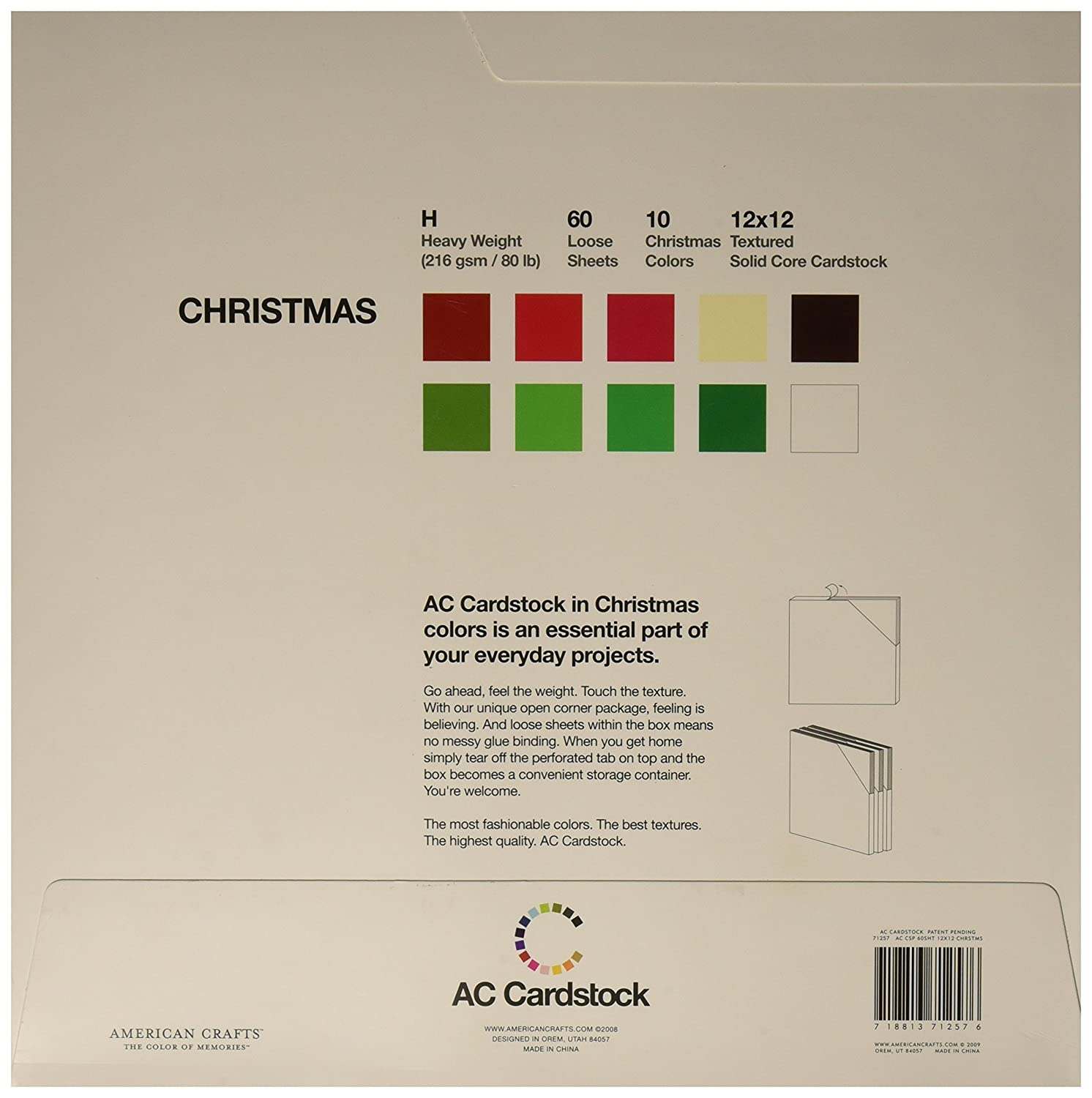 Amazon.com: American Crafts 12-Inch by 12-Inch Cardstock Variety ...