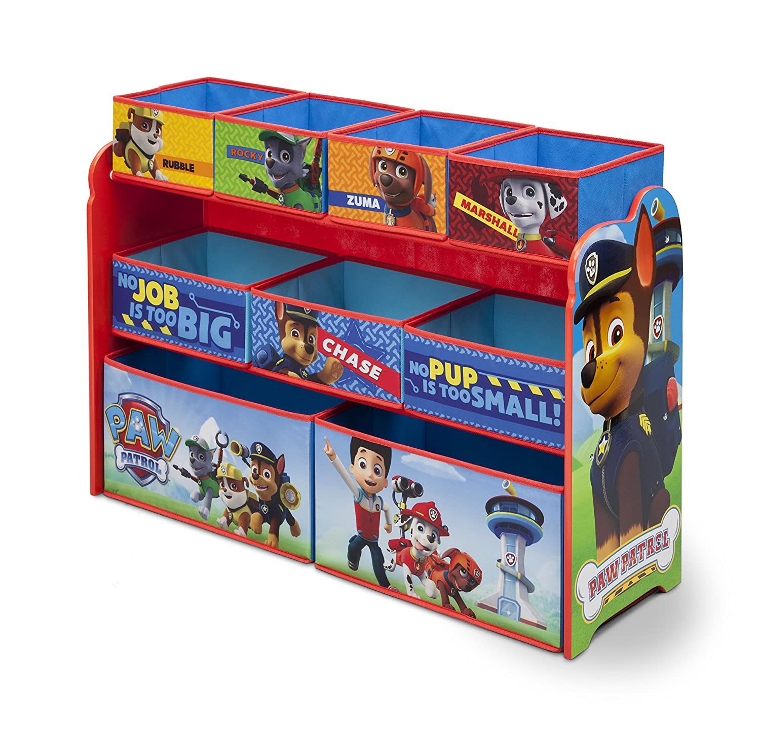 Nick Jr. Deluxe 9 Bin Toy Organizer, Paw Patrol Delta Children TB84418PW