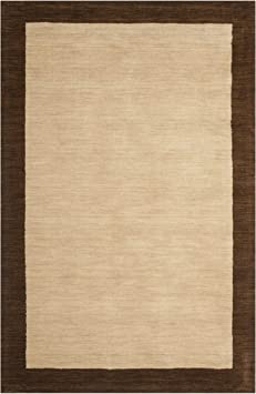 Amazon Com Safavieh Himalayan Beige Dark Brown Rug Rug Size 5 X 8 Furniture Decor