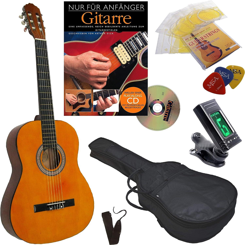 MSA - Set de iniciación de guitarra de concierto (4/4, incluye ...