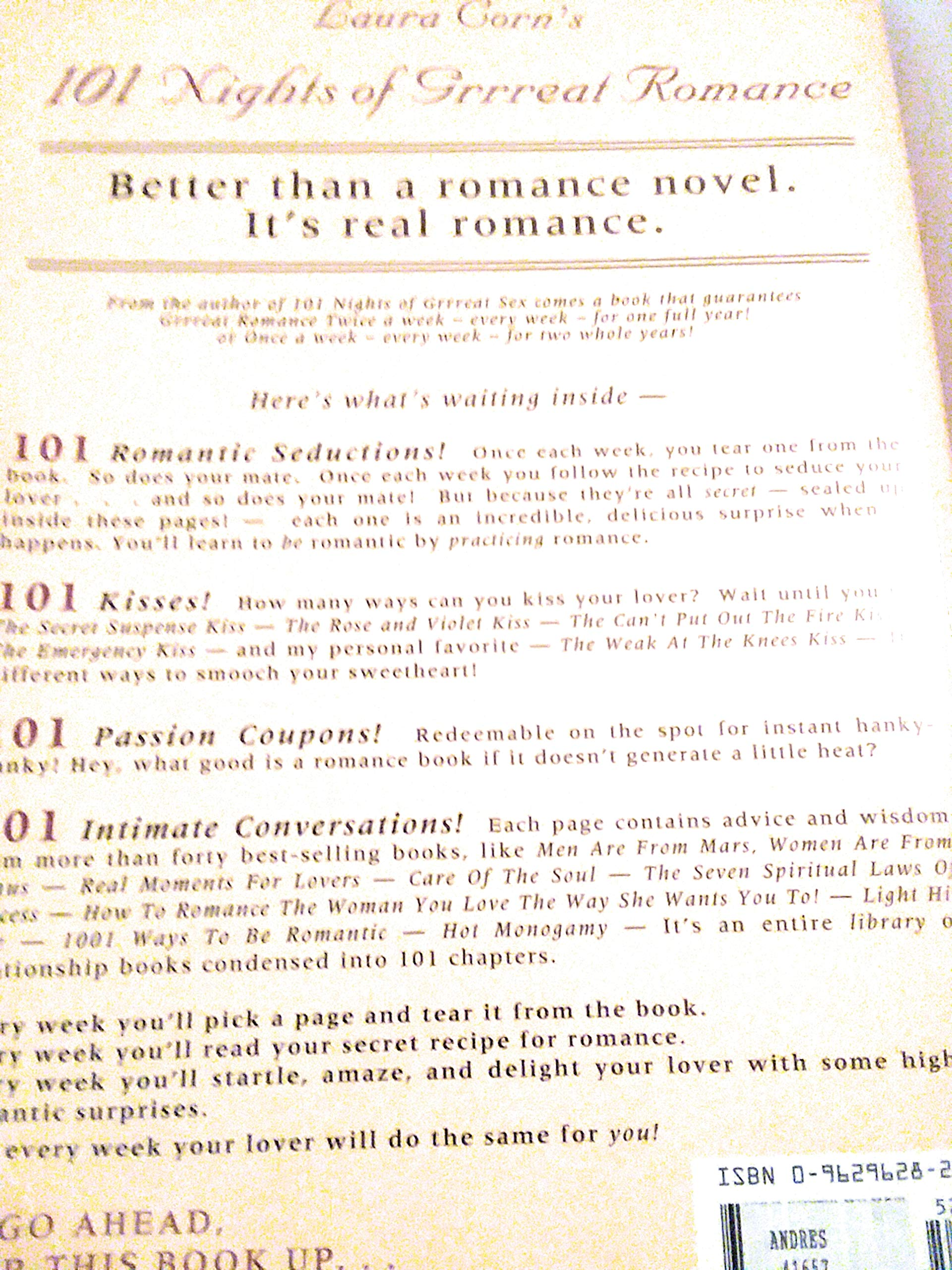 101 Nights of Grrreat Romance: Laura Corn: Amazon com: Books