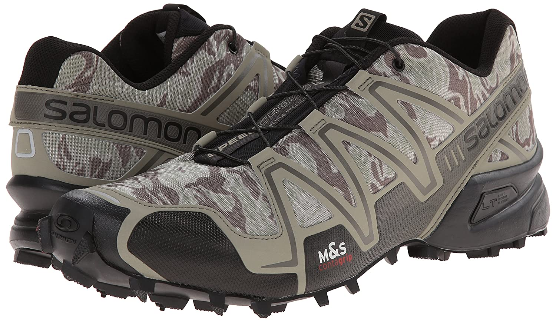 new style e2d40 3bd5a Salomon Speedcross 3 Camo Shoes, Men s 8 UK (Titanium Swam)  Amazon.in   Sports, Fitness   Outdoors