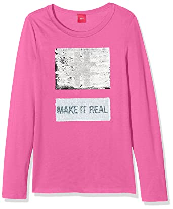 buy cheap shopping utterly stylish s.Oliver Girl's 66.710.31.7542 Longsleeve T-Shirt, (Pink ...
