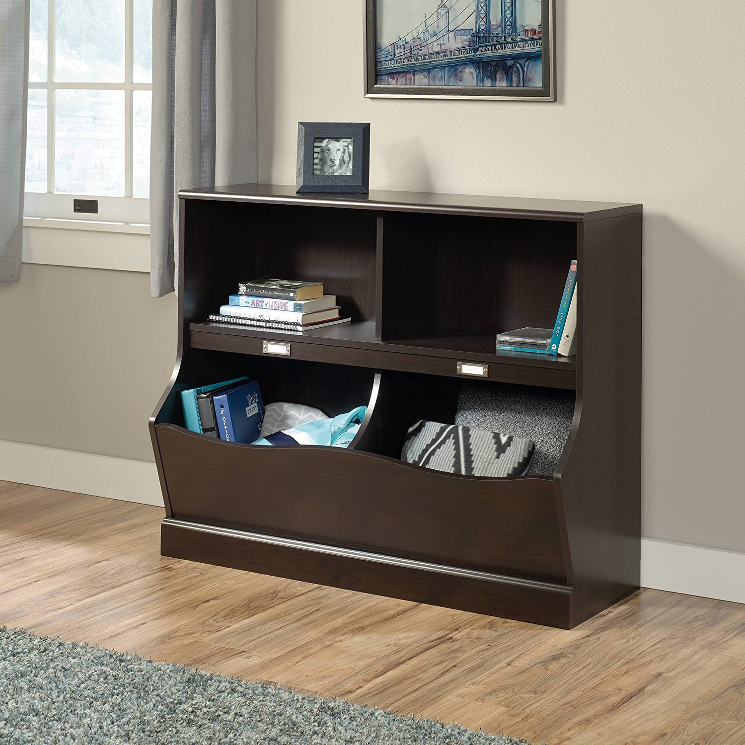 Sauder Storybook Bookcase - Jamocha Wood Finish