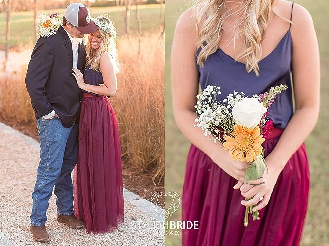 e1e8564be82 Amazon.com  Mulberry and Navy Engagement Dress