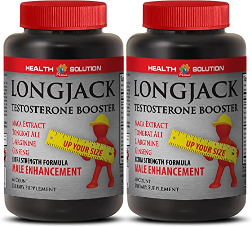 Male Enhancing Pills Increase Size and Length – LONGJACK Size UP All Natural Formula – Tongkat ali and maca – 2 Bottles 120 Capsules