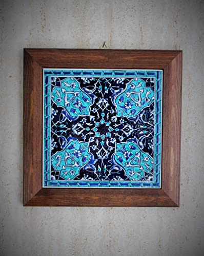 Handmade Handpainted Turkish Ottoman Design Wall Art Ceramic Tile Wood Frame & Amazon.com: Handmade Handpainted Turkish Ottoman Design Wall Art ...