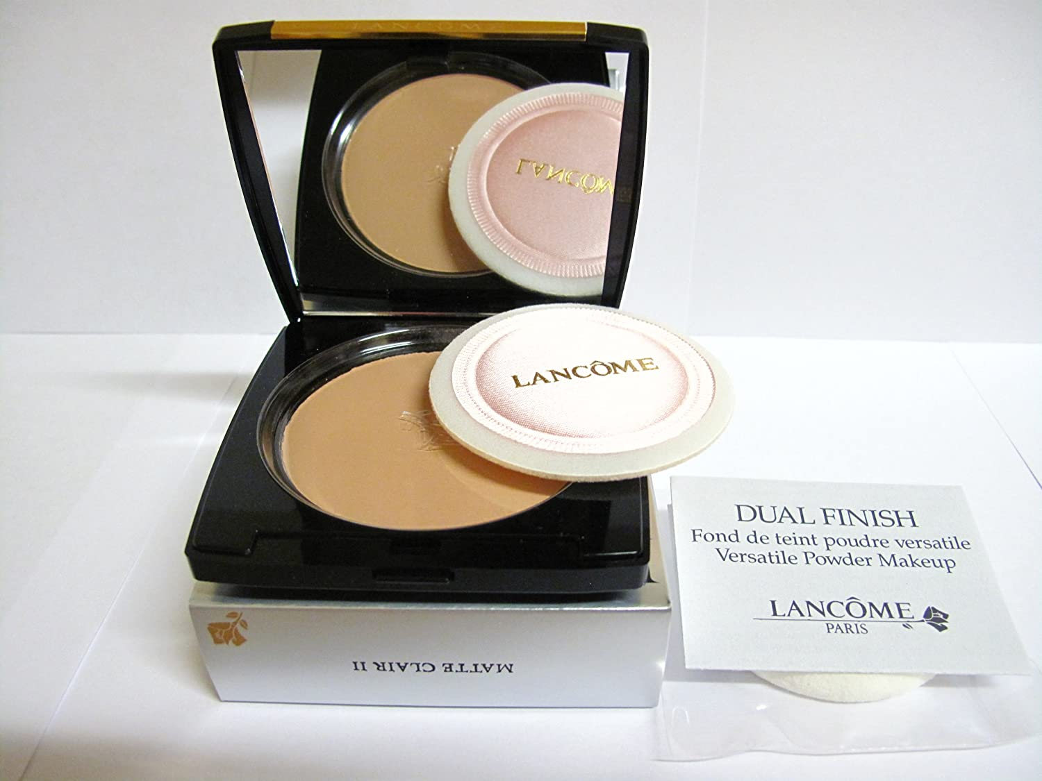 Lancome Dual Finish Versatile Powder Makeup - # Matte Clair II (Made in USA) 19g/0.67oz 0425566244047