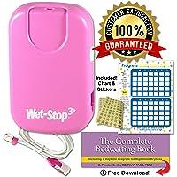Wet Stop 3 alarma de enuresis para enuresis rosada con monitor de cama para vibraciones y sonido