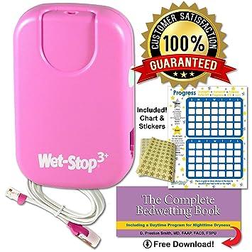 Wet-Stop3Mojar la cama de alarma enuresis con el sonido y la vibración mejor monitor cama para Bedwetters: Los niños y los niños entrenamiento ...