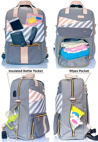 Amazon.com : Backpack Diaper Bag for Toddler - Super Diaper Changing Bag - Mommy Backpack - Convertible Diaper Bag - Maternity Bag Backpack - Mochila para ...