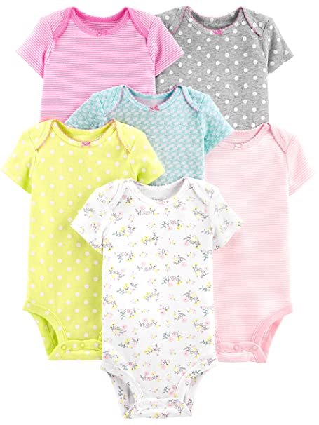 61d19334c4c Simple Joys by Carter s Baby Girls  6-Pack Short-Sleeve Bodysuit