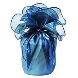 仏具 骨壷 シースルー 3寸 ロイヤルブルー 覆い袋つき 骨壷カバー